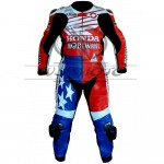 Motorbike leather suit race suits riding suit racing suit CE Armour suits HONDA