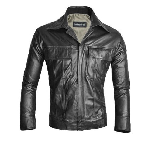 KING OF ROCK ELVIS PRESLEY Real Lamb Leather ELVIS Style Jacket