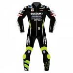 Suzuki Motorcycle Leather Riding Suit-Motorbike Racing suit MotoGP