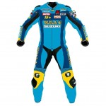 SUZUKI RIZILA MotoGp MOTORCYCLE RACING SUIT - CE APPROVED FULL PROTECTION