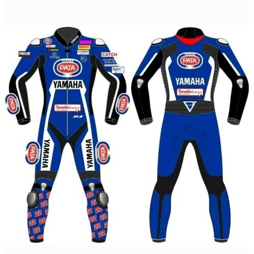 Yamaha Pata Motorcycle Leather Riding Suit-Motorbike Racing suit MotoGP