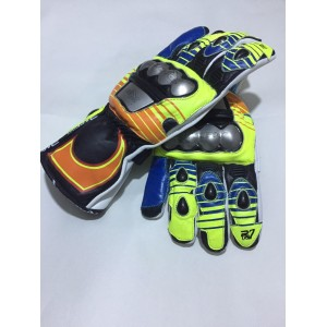 Valentino Rossi Motorbike VR 46 Racing Gloves Cowhide Leather