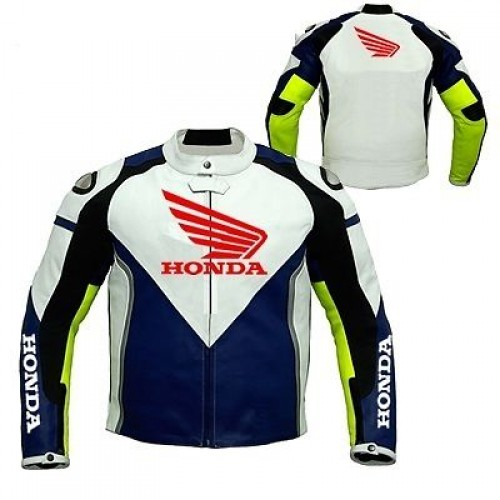 HONDA Racing Leather Jacket Motorbike Leather Jacket Motorcycle Leather Jacket