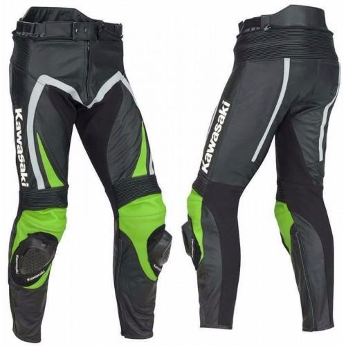 KAWASAKI-Motorcycle Leather Trouser Motorbike Racing  pant,CE ARMOUR