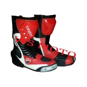 DUCATI NEW STYLE MOTORBIKE MOTOGP MOTORCYCLE LEATHER RACING BOOTS