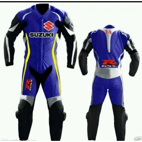 suzuki 2016 motorbike/motogp/motorcycle racing leather suit