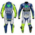 Valentino Rossi YAMAHA MOVISTAR  MOTORBIKE MOTOGP MOTORCYCLE RACING LEATHER SUIT