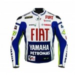 YAMAHA FIAT  MOTORCYCLE/MOTORBIKE/MOTOGP LEATHER JACKET