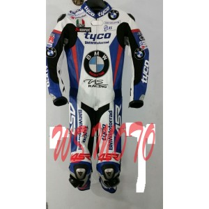 TYCO BMW RACING MOTORCYCLE LEATHER SUIT MOTORBIKE LEATHER ONE PIECE NEW ARRIVAL