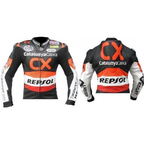 HONDA-REPSOL-CX Motorcycle Leather Jacket Motorbike Racing,CE,ARMOUR