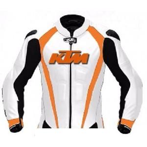KTM-100% Genuine Leather MOTORBIKE/MOTOGP/MOTORCYCLE RACING JACKET
