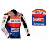 HONDA-REPSOL-HRC Motorcycle Leather Jacket Motorbike Racing,CE ARMOUR