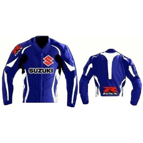 SUZUKI-GSXR CE Armoured Leather Motorbike / Motorcycle Racing Jacket