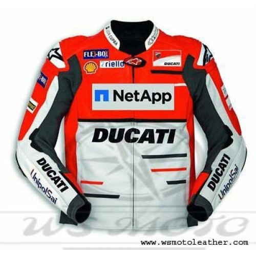NEW DUCATI  CORSE 2019 RED MOTORBIKE BIKER COWHIDE LEATHER JACKET CE APPROVED PADS