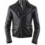 Men's Leather Multiple Use Fashion Casual Zipper Motorcycle Jacket New All Sizes