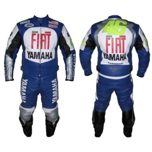 YAMAHA FIAT Leather Suit Motorbike Leather Suit Men Racing Leather Suit