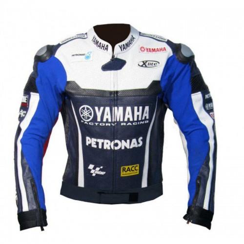 jorge lorenzo yamaha Moto Veste en cuir Biker cuir de vachette Jacket HOMMES