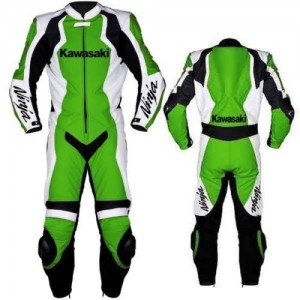 KAWASAKI-NINJA-1-OR-2 PC MOTORBIKE LEATHER SUIT RACING MOTORCYCLE SUIT