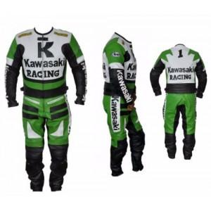 Kawasaki Leather Suit Motorbike Leather Suit Men Racing Leather Suit