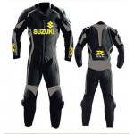 SUZUKI-GSXR-1-OR-2 PC MOTORBIKE LEATHER SUIT RACING BIKER MOTORCYCLE XS-6xl