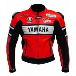 YAMAHA-46 Motorcycle Cowhide Leather MOTOGP Jacket Motorbike Jacket Racing