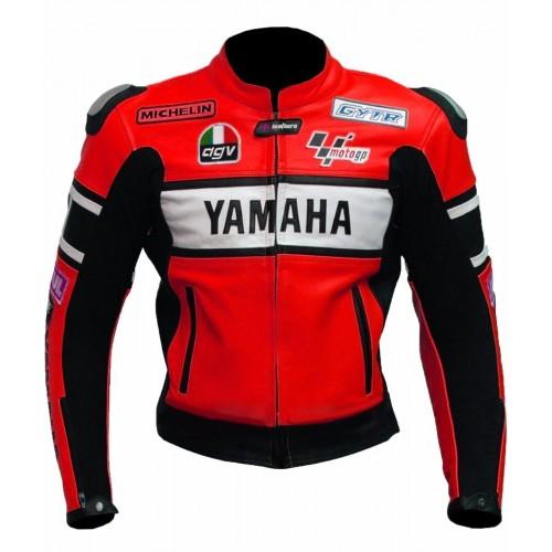 YAMAHA-46 Motorcycle Cowhide Leather MOTOGP Jacket Motorbike Jacket Racing