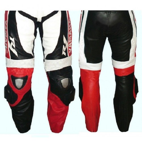 YAMAHA-R-1 Titanium Armour Motorbike Leather Pant Racing Leather Trouser