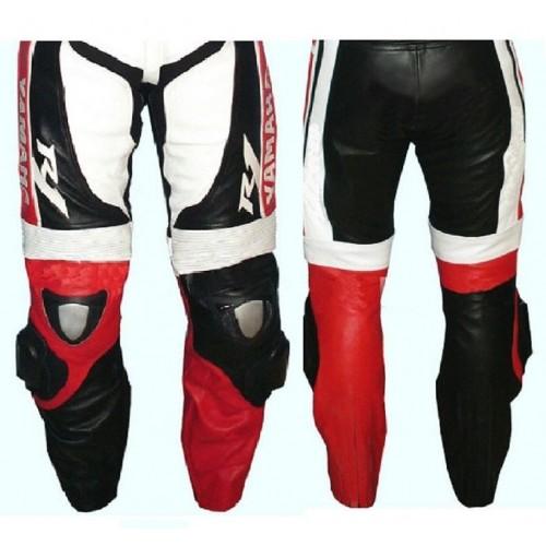 YAMAHA-R-1 Titanium Armour Motorbike Leather Pant Racing Leather Trouser