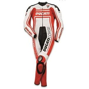 DUCATI CORSE MOTORBIKE/MOTOGP/MOTORCYCLE/RACING LEATHER SUIT