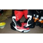 DUCATI MOTORBIKE/MOTOGP/MOTORCYCLE LEATHER RACING BOOTS