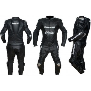 NINJA KAWASAKI MOTORBIKE/MOTOGP/MOTORCYCLE LEATHER SUIT