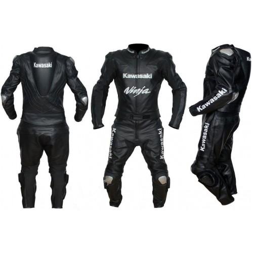 NINJA KAWASAKI MOTORBIKE/MOTOGP/MOTORCYCLE LEATHER SUIT