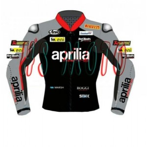 APRILIA MOTORBIKE MOTORCYCLE MOTOGP RACING LEATHER JACKET