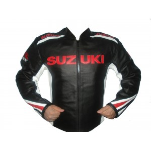 Suzuki Motorcycle Leather Jacket Racing Motorbike MotoGp Sports Leather Jacket