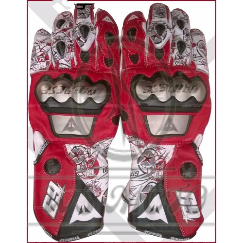 2016 NICKY HAYDEN GLOVES MOTOGP REPLICA LEATHER RACING GLOVES