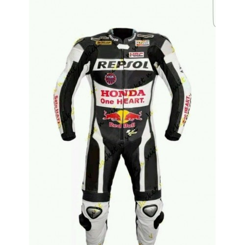Men's Leather Motorbike Replica Honda Suit for Motorcycle ride