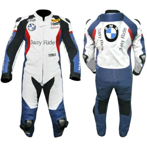 BMW Pure Motorbike Racing Leather Suit Racing Motorcycle Cowhide Suit