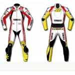 YAMAHA 2017 Motogp MOTORBIKE LEATHER SUIT - CE APPROVED FULL PROTECTION