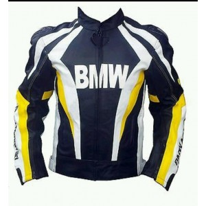 BMW 2015 MODEL MOTORBIKE/MOTORCYCLE LEATHER JACKET -CE APPROVED FULL PROTECTION