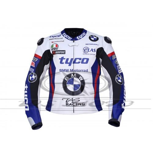 NEW BMW TYCO MOTORBIKE/MOTOGP/MOTORCYCLE 100% COWHIDE LEATHER JACKET