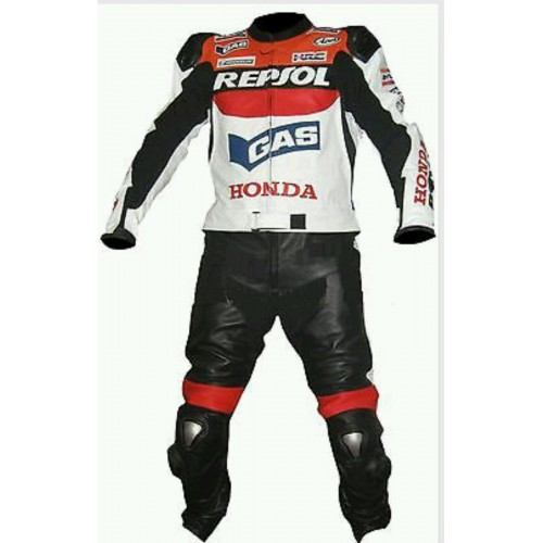 HONDA REPSOL WING MOTORBIKE MOTORCYCLE RACING SUIT - CE APPROVED FULL PROTECTION