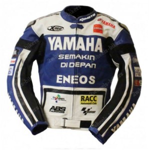 YAMAHA ENEOS Motorcycle Leather Jacket Men Biker Racing Motorbike Leather Jacket