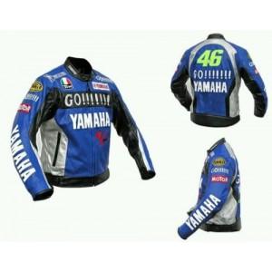 YAMAHA GO 46 MOTORBIKE COWHIDE LEATHER JACKET CE PROVED FULL PROTECTION.