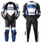 YAMAHA MEN BIKER SUIT MOTORCYCLE LEATHER SUIT MOTORBIKE LEATHER JACKET TROUSER