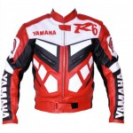 Yamaha Leather Motorbike Jacket Motorcycle Jacket Racing Biker XS-4XL