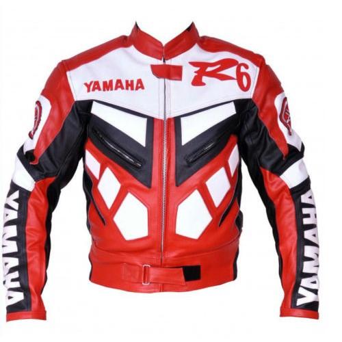 Yamaha Leather Motorbike Jacket Motorcycle Jacket Racing Biker XS-4XL