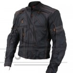 Retro sports Motorbike Cowhide Leather Jacket Motorcycle Racing Jacket ALL-SIZE