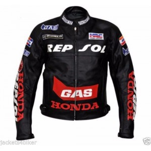 HONDA REPSOL BIKER JACKET MOTORBIKE LEATHER JACKET MOTORCYCLE LEATHER JACKETS