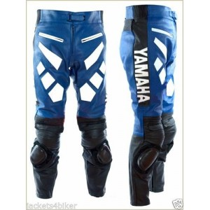 YAMAHA MENS RACING PANT MOTORCYCLE LEATHER TROUSER MOTORBIKE LEATHER TROUSER