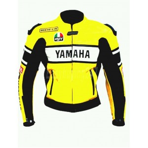 YAMAHA  MOTORBIKE MOTOGP MOTORCYCLE RACING LEATHER JACKET